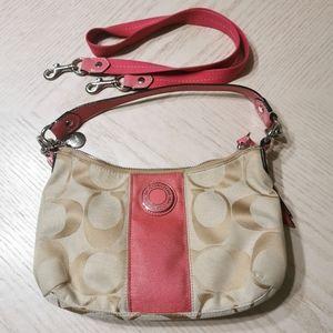 COACH Signature 2 Way Shoulder Bag